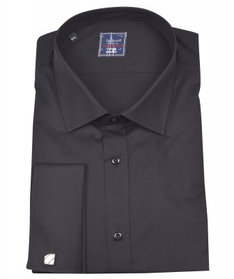 ZegSlacks - Manşet Kol Gömlek (siyah)