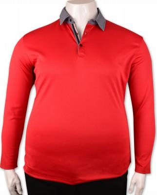ZegSlacks - Kırmızı Piquet Polo Yaka Sweatshirt (psw4338)