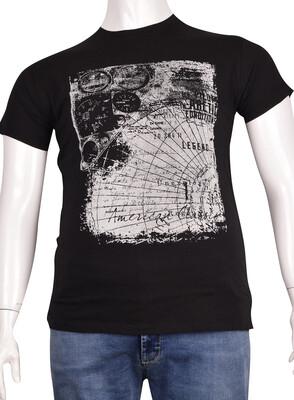 ZegSlacks - Sıfır Yaka Baskılı T-Shirt (BKT0305)