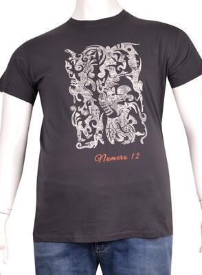 ZegSlacks - Sıfır Yaka Baskılı T-Shirt (BKT0310)