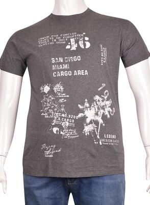 ZegSlacks - Sıfır Yaka Baskılı T-Shirt (BKT0320)