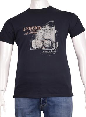 ZegSlacks - Sıfır Yaka Baskılı T-Shirt (BKT0321)