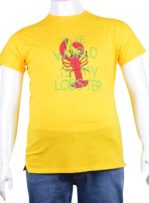 ZegSlacks - Sıfır Yaka Baskılı T-Shirt (BKT0334)