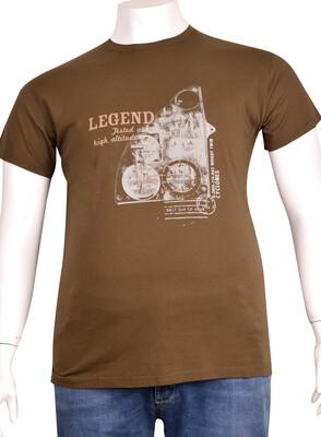 ZegSlacks - Sıfır Yaka Baskılı T-Shirt (BKT0300)